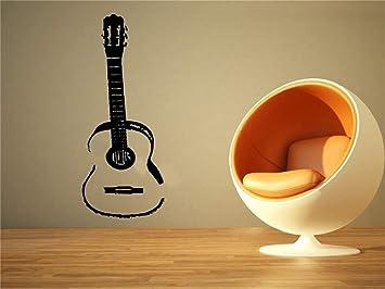 etiqueta de la pared pegatina de pared frases Guitarra acústica ...