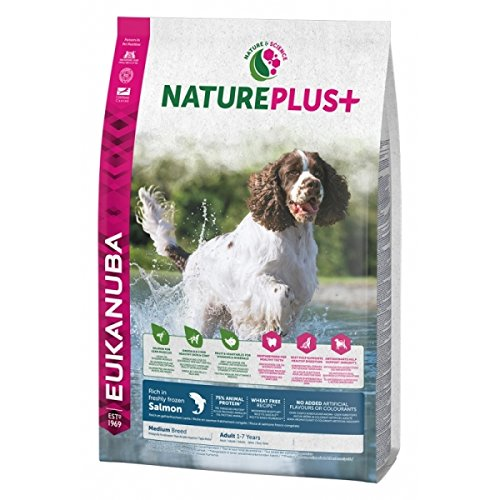 10 kg Eukanuba Nature Plus+ Adult Medium Breed Rich In Freshly Frozen Salmon, 10 kg