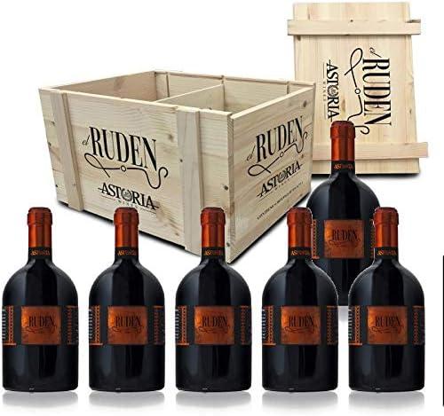 el RUDEN Rosso I.G.T. Astoria Vino Tinto Italiano (6 botellas 75 cl. en caja de madera): Amazon.es: Alimentación y bebidas