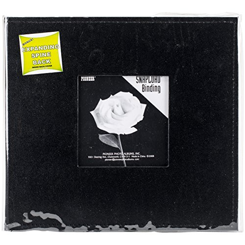 Pioneer 8 Inch by 8 Inch Snapload Sewn Leatherette Frame Cover Memory Book, ()