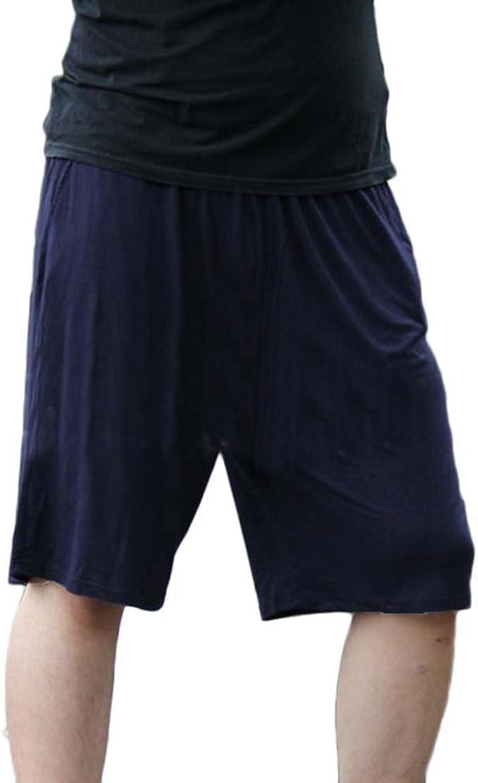 Pantalones Cortos Shorts Elástico Noche De Pijama para Hombre Pantalones De Estar por Casa Talla Grande: Amazon.es: Ropa y accesorios