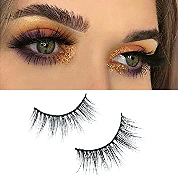 ebd9381236f Amazon.com : Misstar 3D Mink Fur Fake Eyelashes 100 Seberian Mink Fur  Handmade Luxurions Thick Strip Natural-Looking Eyelashes 1 Pair A17 : Beauty