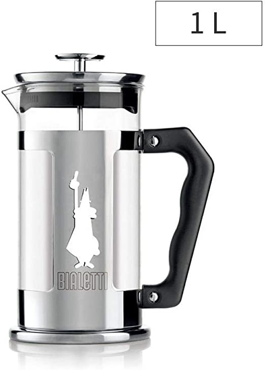 Hokaime French Press Cafetera Tetera de Vidrio de Acero Inoxidable ...