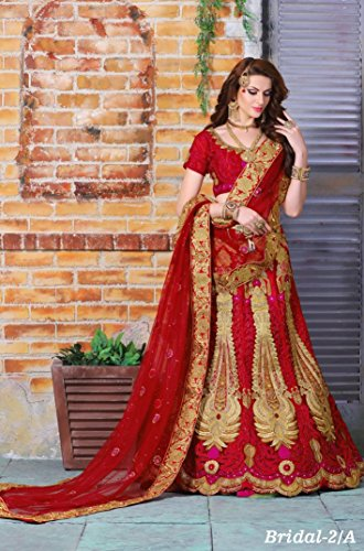 Hit Festival Party Wear Red Bridal Heavy Lehenga Choli Dupatta Salwar Suit Ceremony Dress Ethnic Designer Women Hijab Indian