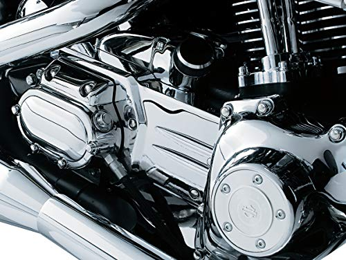 (Kuryakyn 8208 Oil Line Cover and Transmission Shroud/Covering for 1999-2005 Harley-Davidson Dyna Motorcycles,)