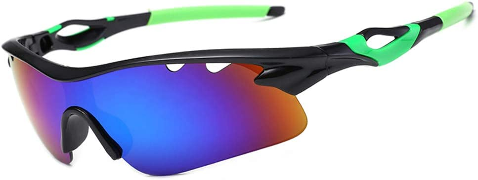 LSHCX Polarized Cycling Glasses Sports Sunglasses for Men Women with 5 Interchangeable Lenes