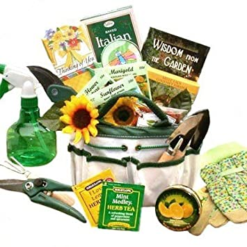 Amazoncom Gardening Gift Basket Garden Tote and Tea Gourmet