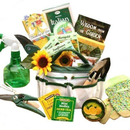 Gardening Gift Basket: Garden Tote and Tea