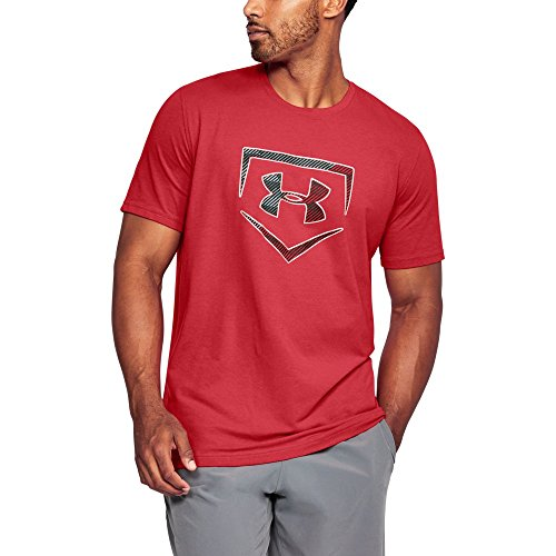 Under Armour Men's Plate Logo T-Shirt, Red (600)/Black, Small