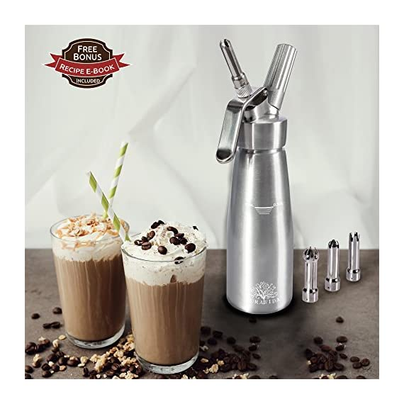 Whipped Cream Dispenser By Pura Vida Durable All Aluminum Body