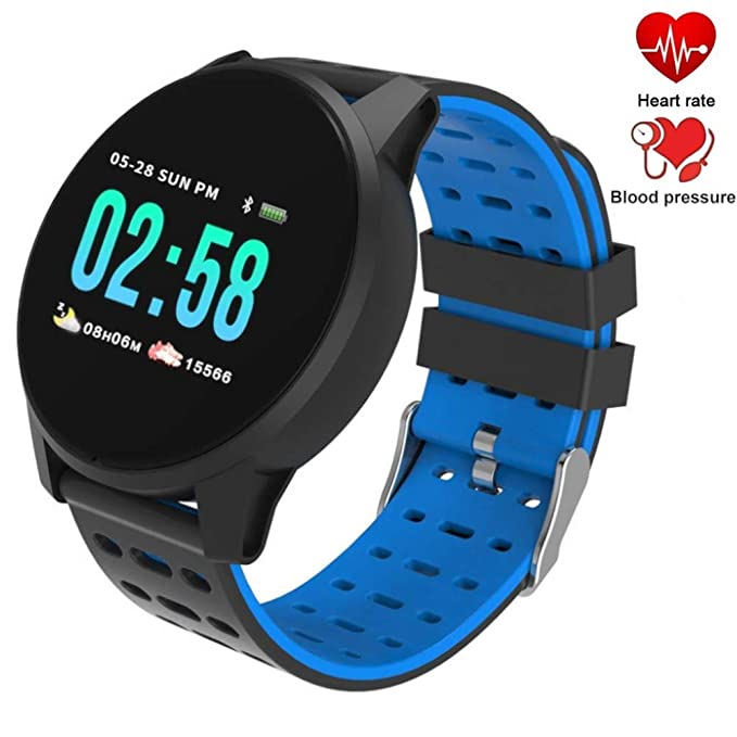 Fitness Tracker Watch Waterproof IP 67 Smart Watch with Heart Rate, Blood Pressure & Sleep Monitor Smart Bracelet Band Pedometer Calorie Monitor ...