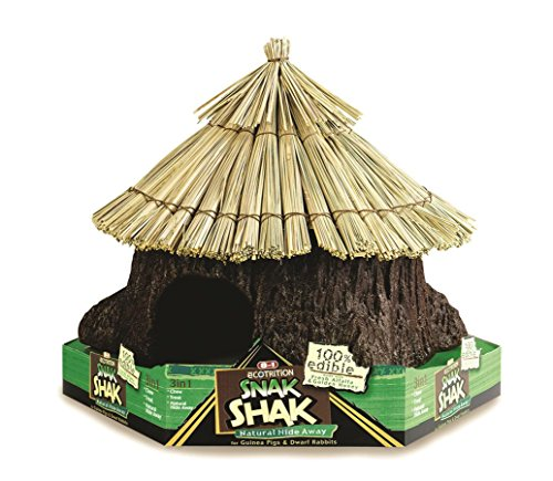 eCotrition SEOE2205 Ecotrition Snak Shak Guinea Pigs and Rabbits House Pet Treat, Large