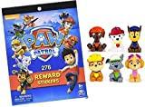 Paw Patrol Mini Figures Set of 6, Rocky, Zuma, Skye, Rubble, Marshall, Chase Paw Patrol Reward Sticker Book with 300 Stickers 6 Party Invitations Cards