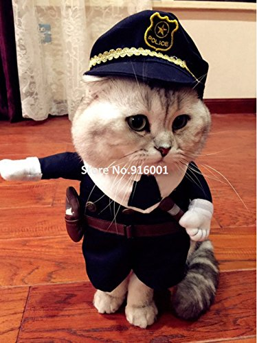 Pet de policía Disfraz anreise mascotas divertido Disfraces para gatos y perros pequeños Party Halloween Policía perro ropa: Amazon.es: Productos para ...