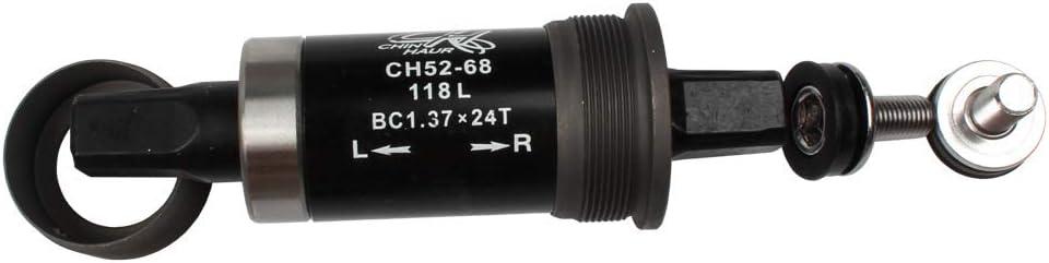 68 x 103//107//113.5//118//119//122//124//127 mm Soporte Inferior Cuadrado para Bicicleta Chin Haur