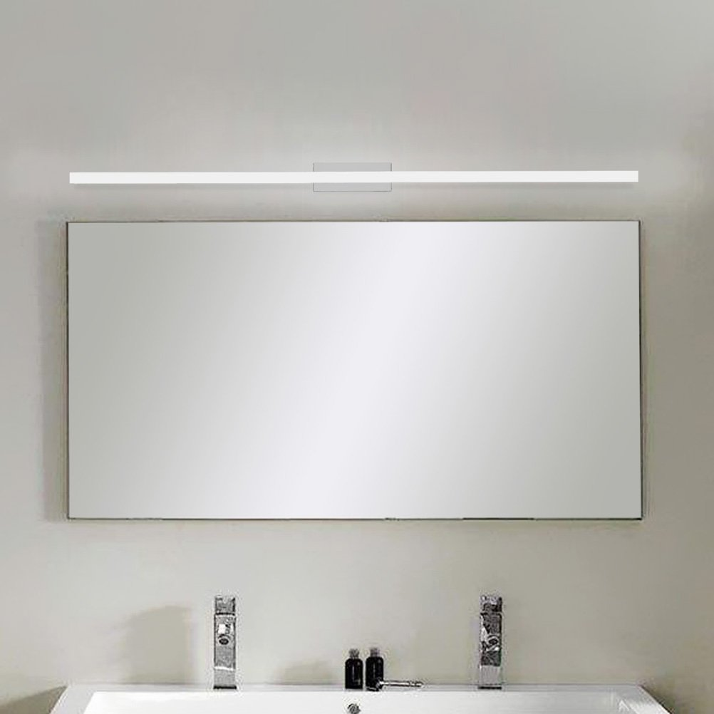 LEDMOMO LED Bathroom Vanity Light,39 inch Makeup Cosmetic Mirror Light Lamp LED Wall Cabinet Light White Light Bathroom Mirror Lighting with Stainless Steel Base (White) by LEDMOMO (Image #2)