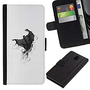 All Phone Most Case / Oferta Especial Cáscara Funda de cuero Monedero Cubierta de proteccion Caso / Wallet Case for Samsung Galaxy Note 3 III // Ghost Grim Reaper Death Skeleton