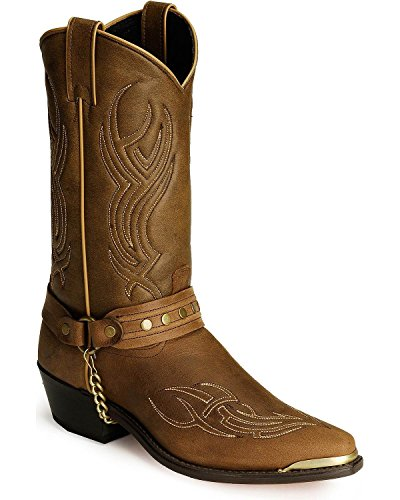 - Abilene Men's Sage by Studded Harness Boot Brown 9.5 EE US