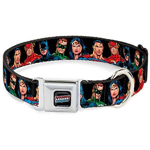 Buckle-Down Seatbelt Buckle Dog Collar - Justice League Elite Forces Superheroes - 1