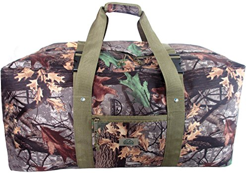 Explorer Wildland -Mossy Oak Realtree Like- Hunting Camo Heavy Duty Duffel Bag - Luggage Travel Gear Bag Adjustable Heavy Stitched Shoulder Strap to Pack Camouflage Clothing