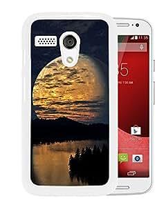 Night Sky Moon Trees River Reflection (2) Durable High Quality Motorola Moto G Phone Case