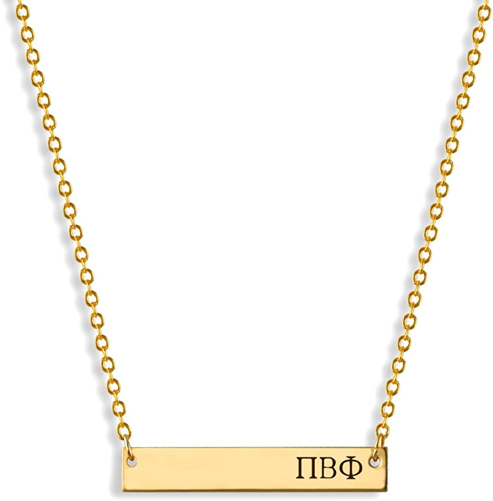 Black Bow Jewelry Sterling Silver Pi Beta Phi Heart Pendant Necklace