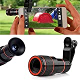 TraderPlus HD Clip-on Camera Lens Kit, Universal 12X Zoom Telephoto Lens for iPhone X/ 8 Plus/ 8/ 7/ 6s/ 6 Plus,Samsung ,HTC and other Smartphones (12X Zoom)