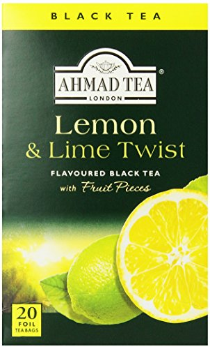 Ahmad Tea Lemon & Lime Twist Black Tea, 20-Count Boxes (Pack of 6) -