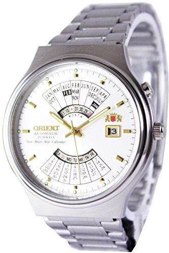 Orient Multi Year Calendar Perpetual World Time Automatic White Dial Men's Watch FEU00002WW