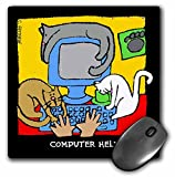 3dRose LLC 8 x 8 x 0.25 Inches Mouse Pad, Cartoon Cats