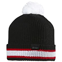 Chaos Hockey Stripe Cuffed Beanie with Pom