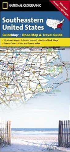 Southeastern United States Road Map & Travel Guide (National ...