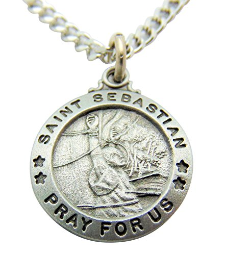 Westman Works Saint Sebastian Pewter Medal Gift Boxed Set with Holy Card Made in the USA