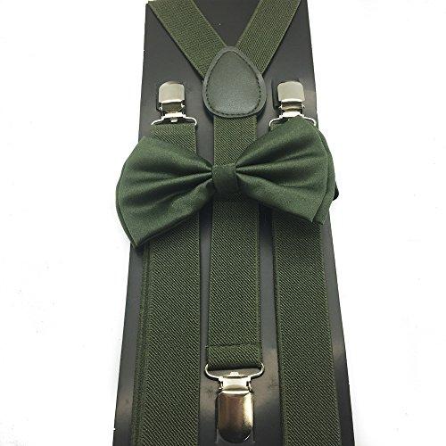 4everStore Unisex's Bow tie & Suspender Sets (Hunter Green) ()