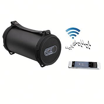 Clip Sonic Technology TES162 Enceinte Boombox Bluetooth pour Smartphone Noir