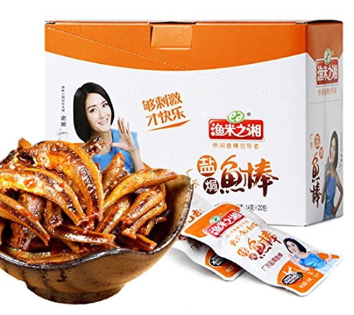 Hunan Specialty: Casual Snacks Dried Maomao Fish Salt Baked Taste 盐焗味 280g/9.9oz (Chinese Pickled Pepper)