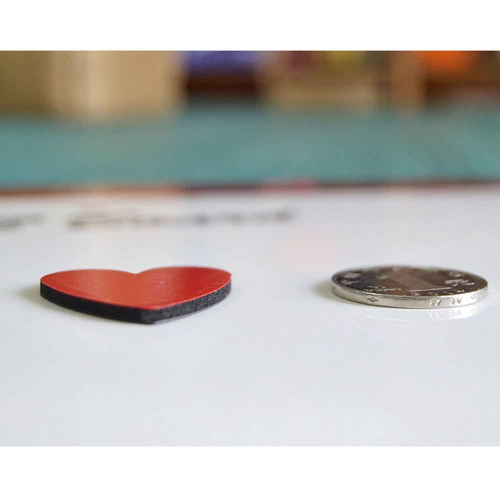Heart ZYCX123 8pcs-colorato Magneti da Frigorifero Ufficio Lavagne Magneti Decorativi