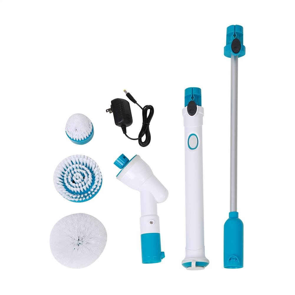 Spin Scrubber Electric Bathroom Scrubber 360 Cordless Multi-Purpose Handheld Cleaning Brush Scrubber for Kitchen, Floor, Tiled Wall (US Plug)