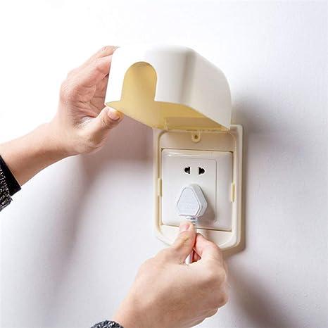 Guoshang caja de interruptor cubre baño impermeable a prueba de polvo enchufes de plástico enchufes protección caja de interruptor cubre Bebé Niños Protector de Seguridad Eléctrica Creative Home Decor: Amazon.es: Juguetes y