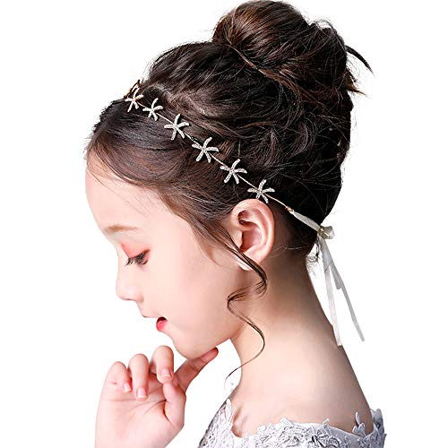 Flower Girl Tiara Starfish Headband Bridal Headpiece Hair