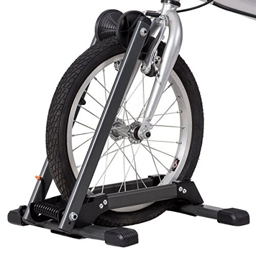 Toolsempire Foldable Bicycle Floor Parking Rack Bike Storage Stand Wheel Holder for Indoor Home (Bike Folding Stand)