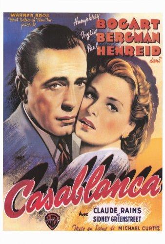 Casablanca Poster C Humphrey Bogart Ingrid Bergman Paul Henreid
