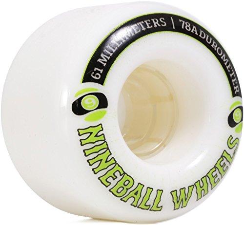 Sector 9 9 Ball White Skateboard Wheels - 61mm 78a (Set of 4)
