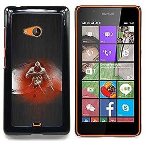 """Qstar Arte & diseño plástico duro Fundas Cover Cubre Hard Case Cover para Nokia Lumia 540 (Asesino"""")"""
