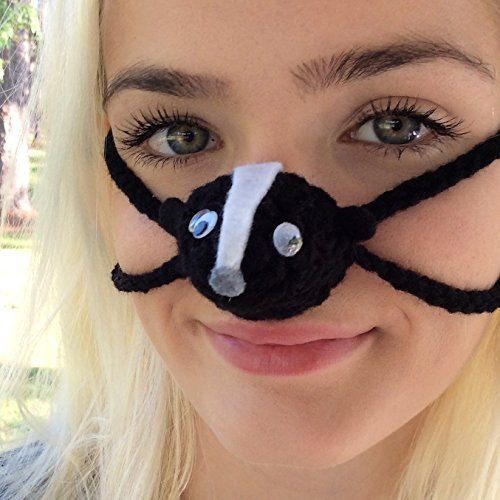 Silly Skunk - Aunt Marty's Original Nose Warmers (Skiing Costume Ideas)