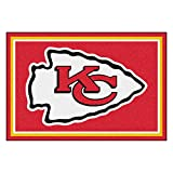 FANMATS NFL Kansas City Chiefs Nylon Face 5X8 Plush Rug