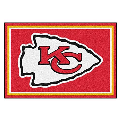 FANMATS NFL Kansas City Chiefs Nylon Face 5X8 Plush Rug by Fanmats