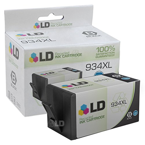 LD © Remanufactured Replacement for Hewlett Packard C2P23AN (HP 934XL) Black Ink Cartridge for use in HP OfficeJet 6812, 6815, and OfficeJet Pro 6230, 6830, and 6835 Printers
