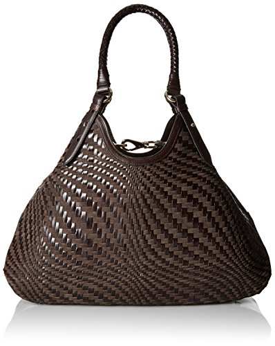 Cole Haan Genevieve Triangle Tote, Chocolate Suede