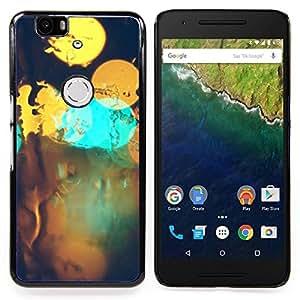 """Qstar Arte & diseño plástico duro Fundas Cover Cubre Hard Case Cover para Huawei Google Nexus 6P (Resumen Bokeh"""")"""